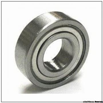 Carbon steel deep groove ball bearing 6202 2RS with dimension 15x35x11 mm