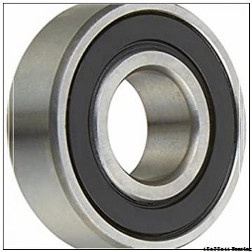 Chrome steel deep groove ball bearing 6202-2RS 6202 z 6202zz with dimension 15x35x11 mm