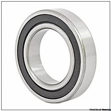 40x68x15 mm (dxDxB) HXHV China High precision angular contact ball bearing S7008 ACD/P4A single or double row