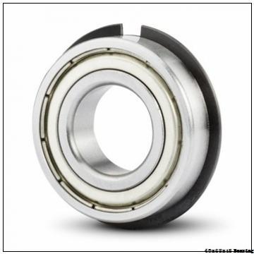 6008 Ball Bearing 40x68x15 mm Open Type Chrome Steel Deep Groove Ball Bearing