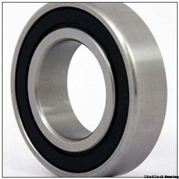P6 (ABEC-3) deep groove ball bearing 6205 2RS with dimension 25x52x15 mm