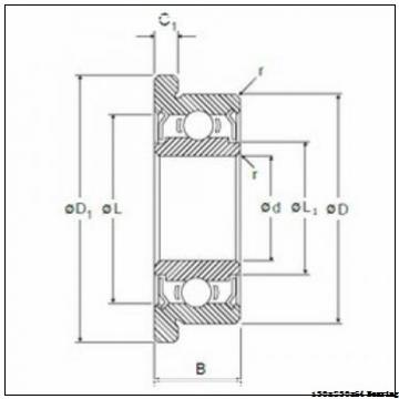 High speed vibrating screen cylindrical roller bearing NU2226ECML Size 130X230X64