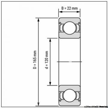 Deep groove ball bearing 61924 120x165x22 mm