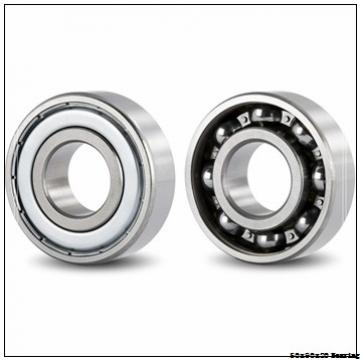Chrome steel deep groove ball bearing 6210 ZZ size 50x90x20 mm