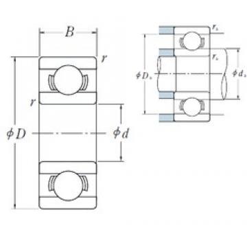 8 mm x 24 mm x 8 mm  Japan High quality miniature bearing nsk 628 bearing 8x24x8 mm