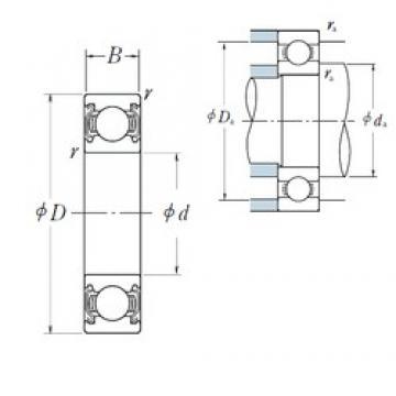 40 mm x 68 mm x 15 mm  NSK 6008ZZ Bearing 40x68x15 Shielded Ball Bearings