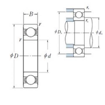40 mm x 68 mm x 15 mm  Japan NSK Deep groove ball bearing 6008 ZZ RS DDU
