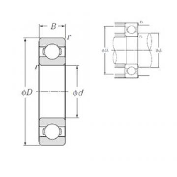 160 mm x 290 mm x 48 mm  NTN 6232 Deep Groove Ball Bearing 160X290X48 mm