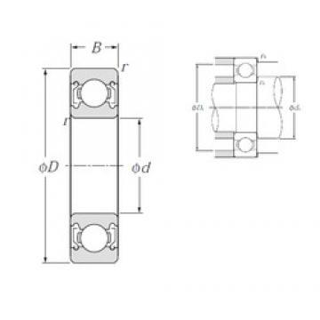 50 mm x 90 mm x 20 mm  NTN 6210ZZ Bearing deep groove ball bearing