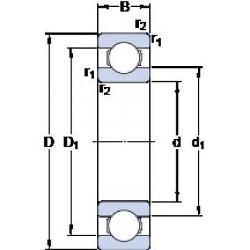 20 mm x 32 mm x 7 mm  SKF 61804 Deep groove ball bearings 61804 Bearing size 20X32X7
