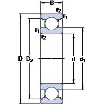 25 mm x 52 mm x 15 mm  SKF 6205 Deep groove ball bearings 6205 Bearing size 25X52X15