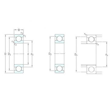 8 mm x 24 mm x 8 mm  SKF 628 Deep groove ball bearings 628 Bearing size 8X24X8