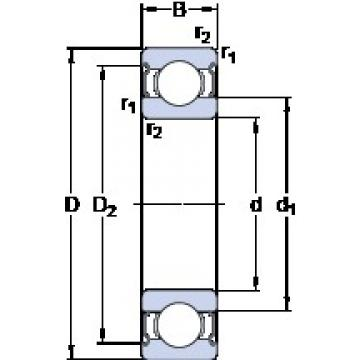 90 mm x 190 mm x 43 mm  SKF 6318-2Z Deep groove ball bearing 6318-Z Bearings size: 90x190x43 mm 6318-2Z/C3