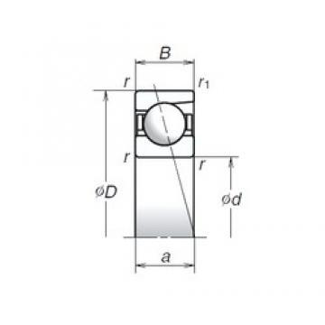 8 mm x 24 mm x 8 mm  NSK 728C Angular contact ball bearing 728C Bearing size: 8x24x8mm