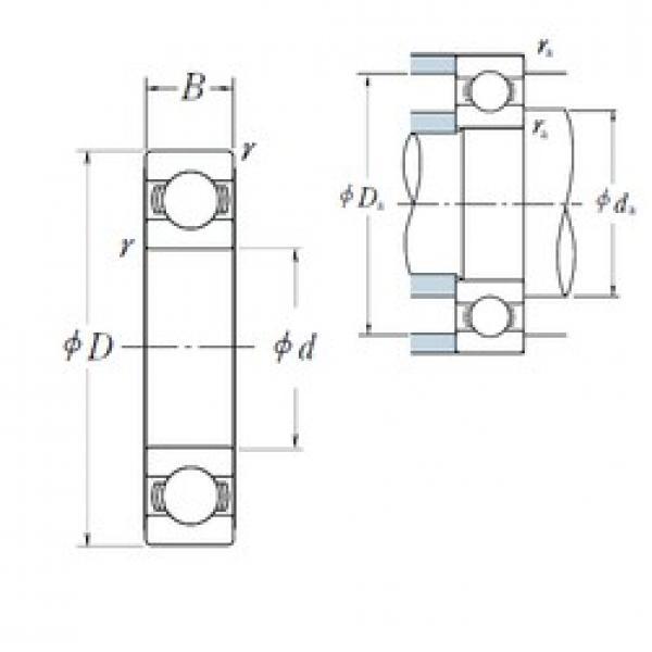 15 mm x 35 mm x 11 mm  NSK deep groove ball bearing 6202 bearing price list NSK bearing 6202 2z #3 image